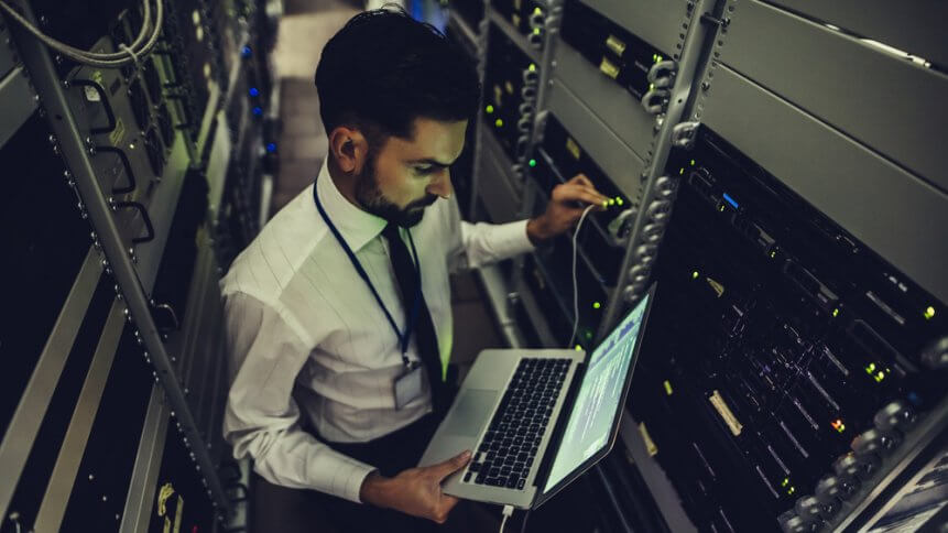 a network administrator maintaining a mainframe system