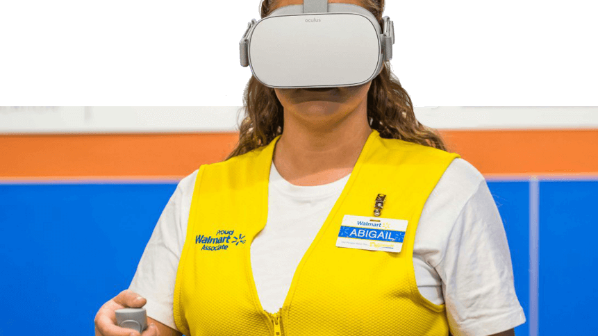 Walmart is using VR to train employees.