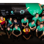 A team from Delft University working on a near-finished hyperloop project.
