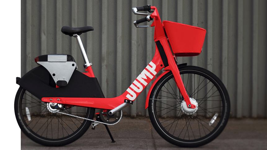 A JUMP bike, which could seen be self-driving.