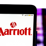 Sign for Marriott Hotel chain