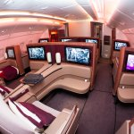 Qatar Airways Airbus A380 first class luxury seats