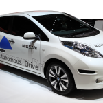 A Nissan autonomous Drive car on display at 84th international Geneva motor show