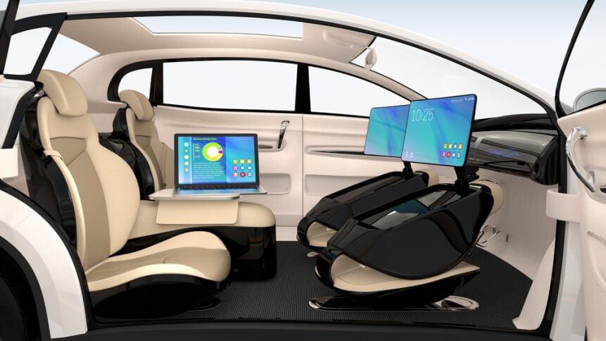 Autonomous car workspace concept