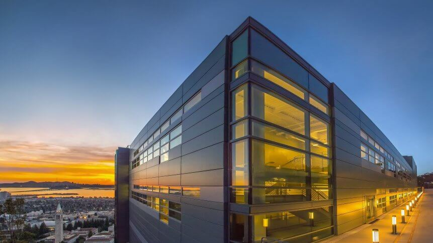 Berkeley Lab's Wang Hall (CRT/NERSC) - exterior photos at sunset - 02/04/2016.