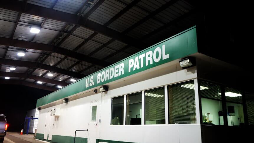 a US border patrol building