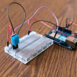 Humidity and temperature sensor prototype at school for IoT device