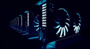 3D illustration of GPU 'rig'