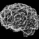 Conceptual image of a human brain neural network.