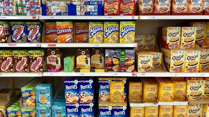 Breakfast cereal on sale at Sainsbury's supermarket