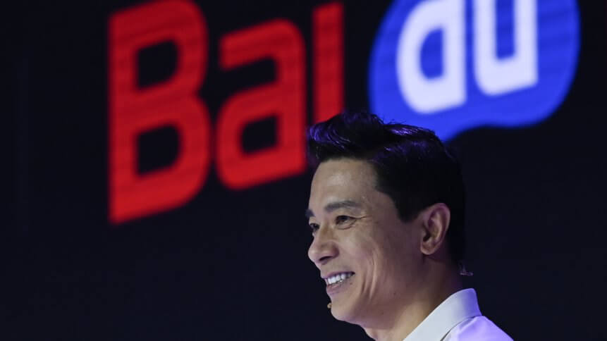 Baidu co-founder and CEO Robin Li attends Baidu Create 2019 in Beijing