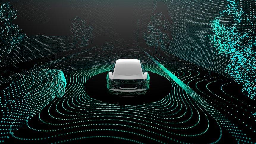 Autonomous vehicles concept image.