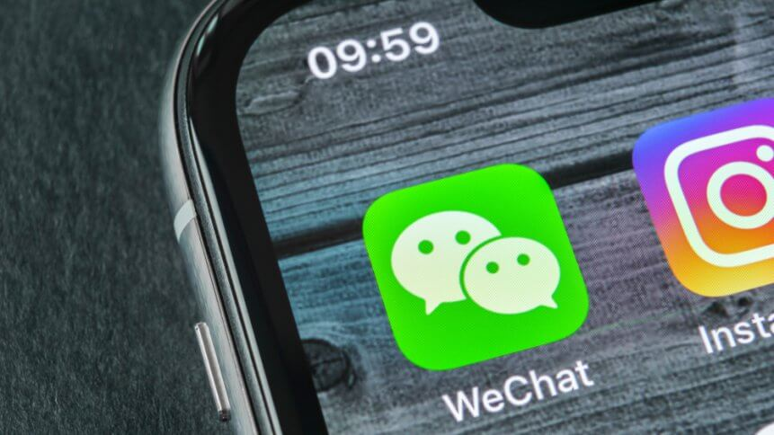 WeChat faces US sanctions from the Trump administration. Source: Shutterstock