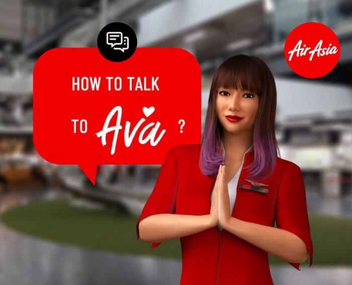 The avatar of AirAsia's AVA chatbot
