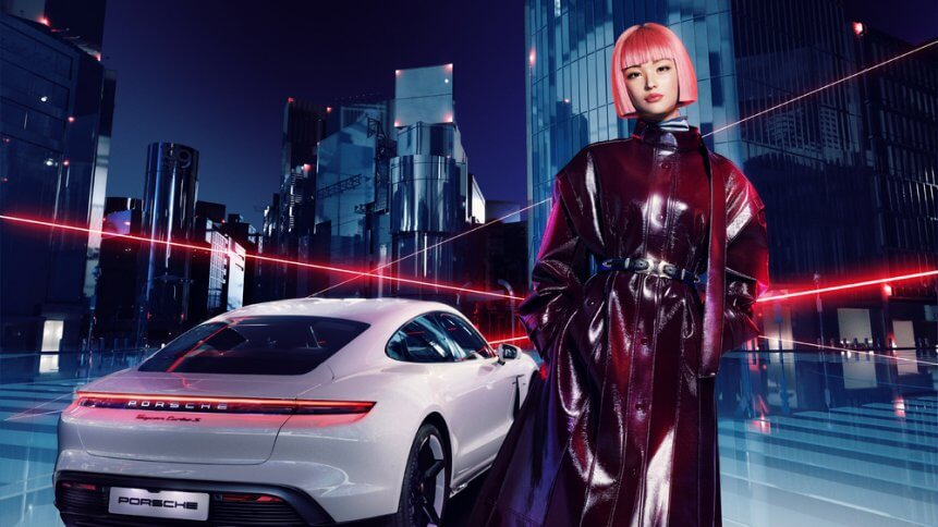 Virtual influencers is on the go. Source: Porsche