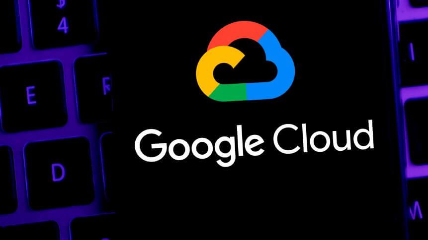 Smart phone with the Google Cloud logo is a Google web platform
