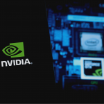 iphone 11 with the logo of Nvidia Corporation which is a company specialized in the development of graphic processing units.