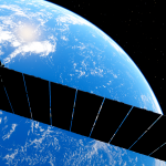 Starlink - Near-Earth Satellite System Project, SpaceX Starlink satellite 3d render.
