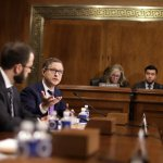 Jay Sullivan, Product Management Director for Privacy and Integrity in Messenger of Facebook, Inc. testifies during a hearing before Senate Judiciary Committee